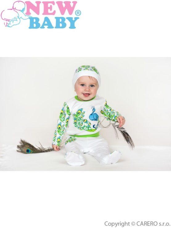 Dojčenský bavlnený overal New Baby z Luxusnej kolekcie Páv