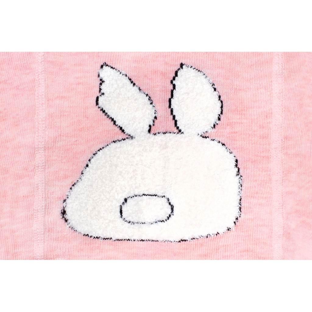 Bavlnené pančucháče 3D New Baby ružové s králičkom