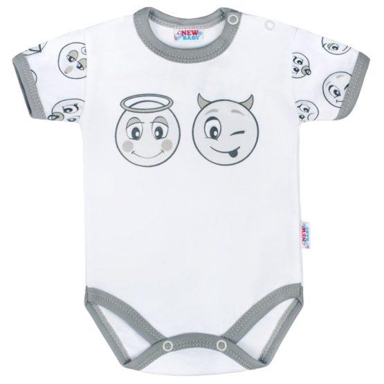 Dojčenské bavlnené body s krátkym rukávom New Baby Emotions