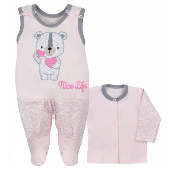 Dojčenská súpravička Koala Nice Life ružová