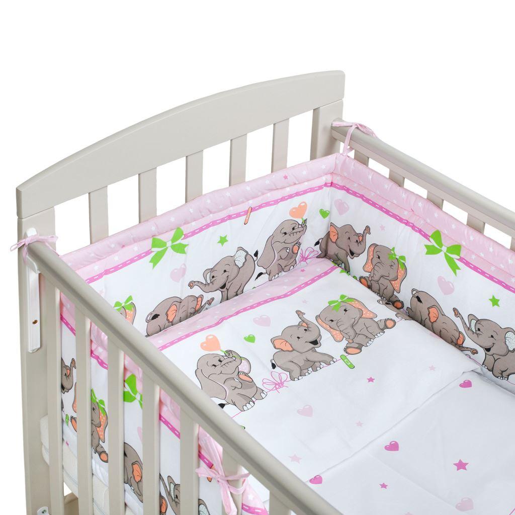2-dielne posteľné obliečky New Baby 100/135 cm růžové so sloníky