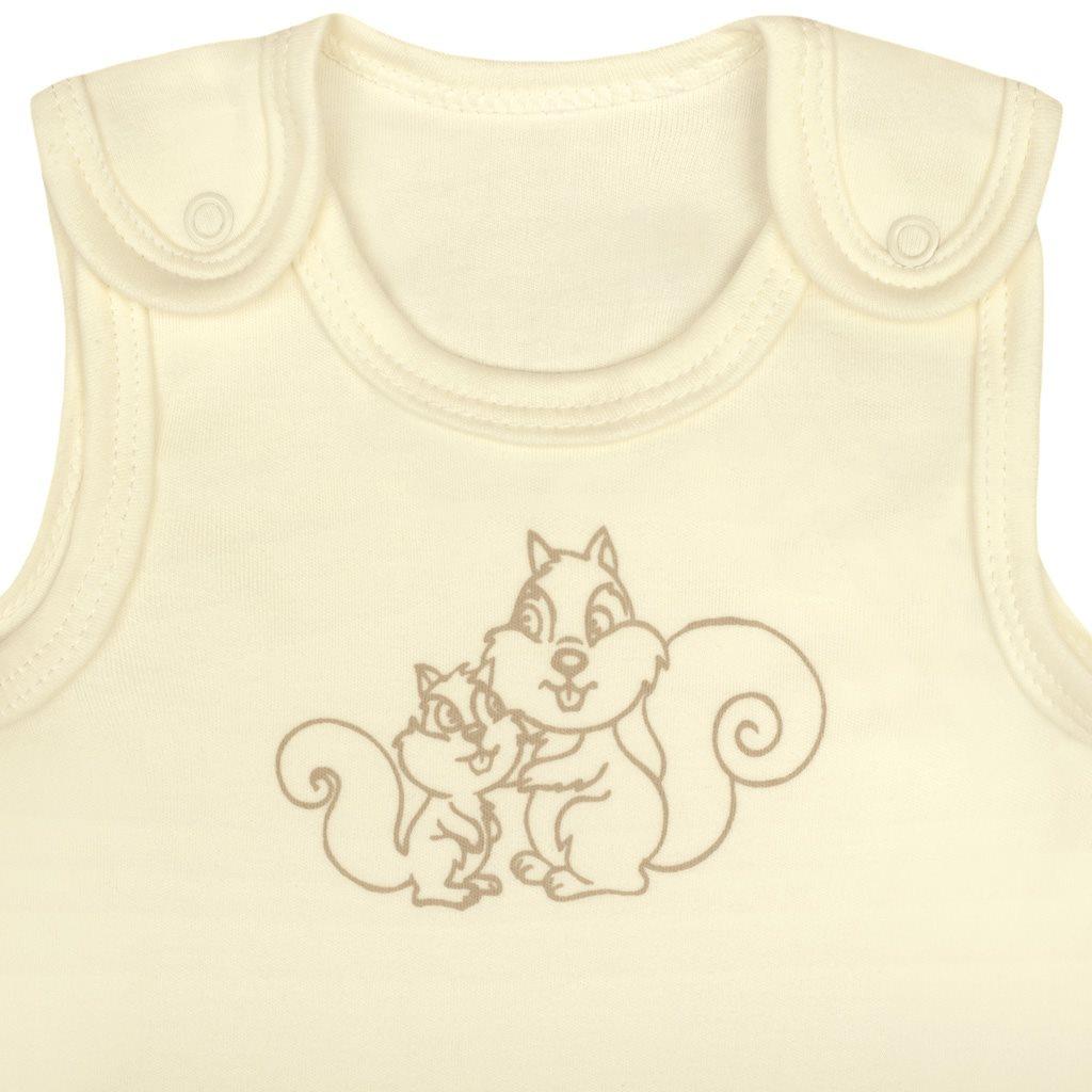 5-dielna súpravička New Baby Veveričky v krabičke béžová