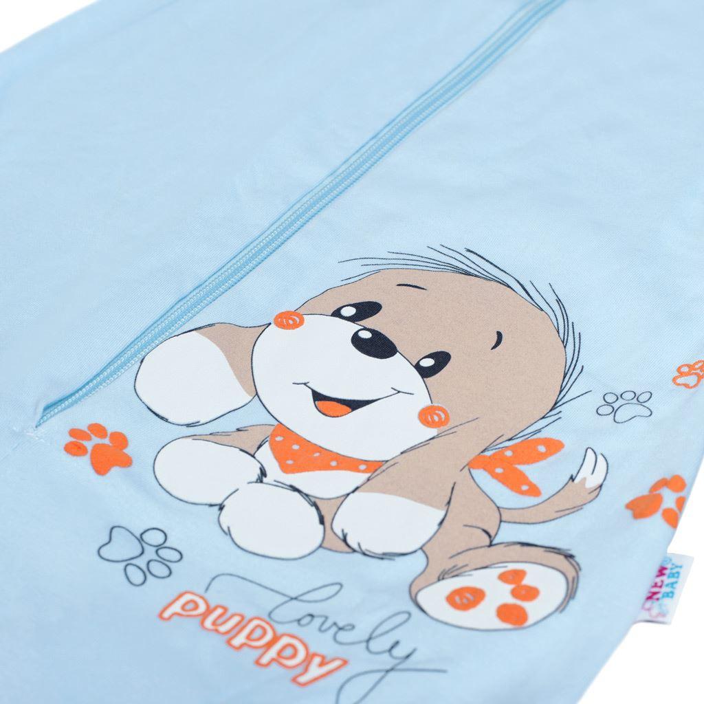 Dojčenský spací vak New Baby psík modrý