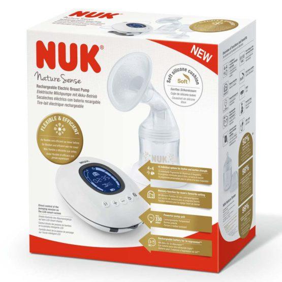 Elektronická odsávačka NUK Nature Sense+nádobka Sense 150 ml+darček