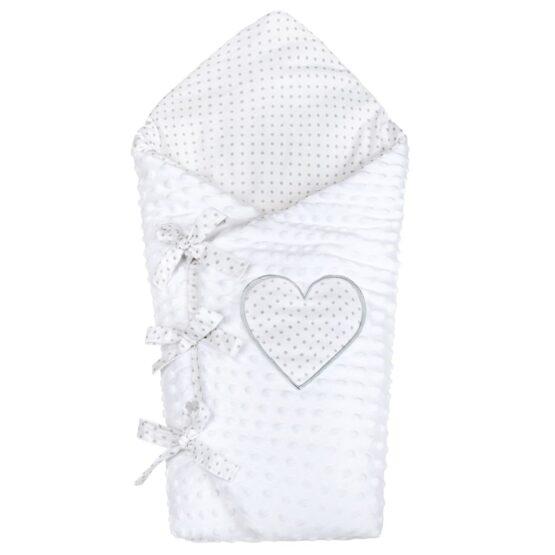 Luxusná šnurovacia Zavinovačka z Minky New Baby biela 75×75 cm