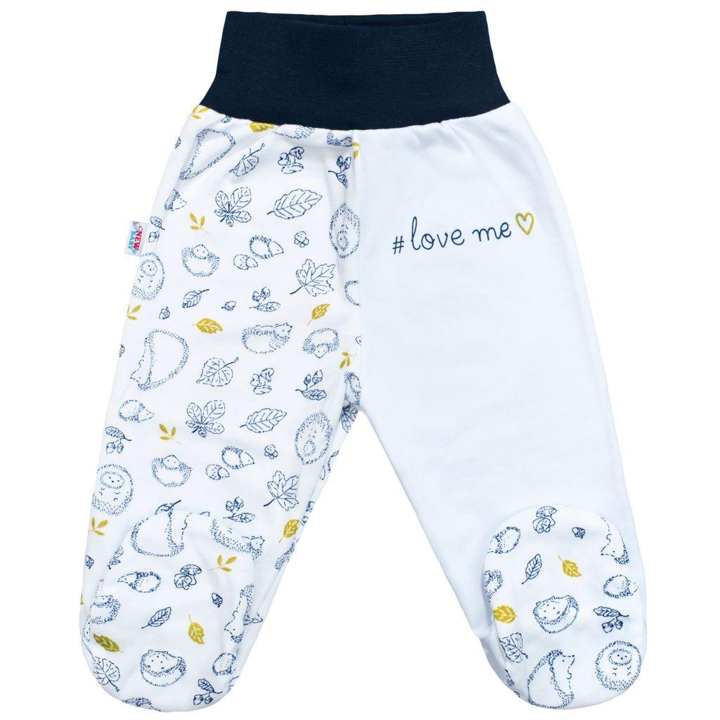 Dojčenská bavlnená súprava New Baby Hedgehog modrá