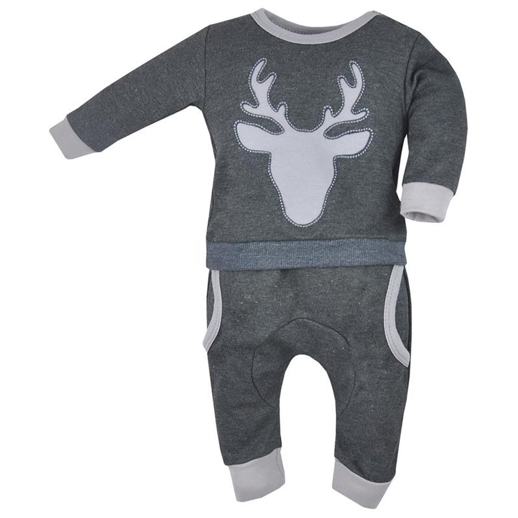 Dojčenské tepláčky a mikinka Koala Deer sivé