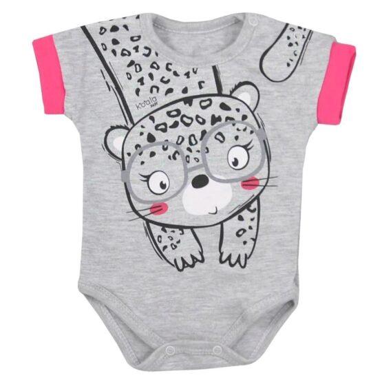 Dojčenské letné body Koala Sara sivé
