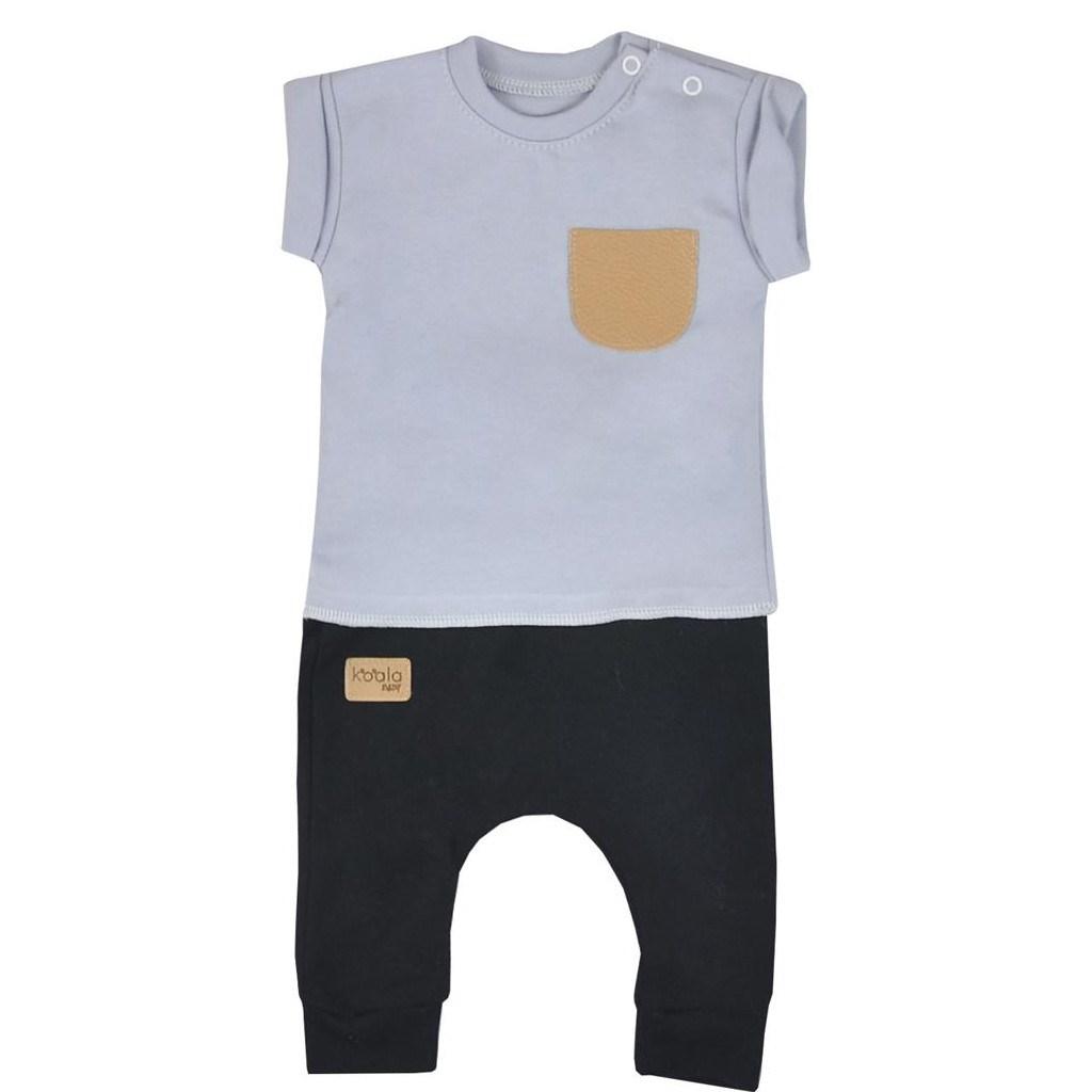 Dojčenské tepláčky a tričko Koala Summer Boy čierno-sivé