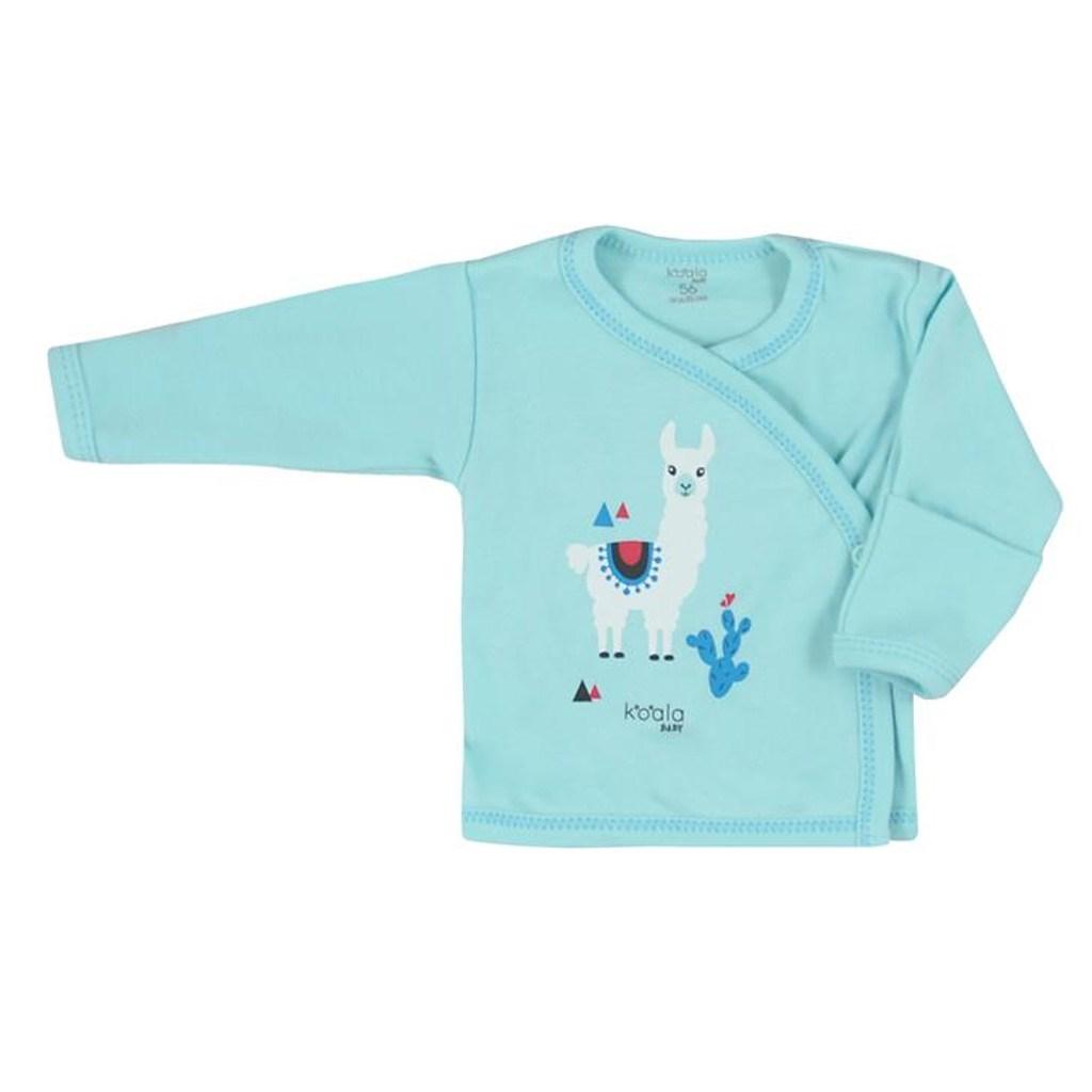 Dojčenská bavlnená košieľka Koala Happy Baby tyrkysová
