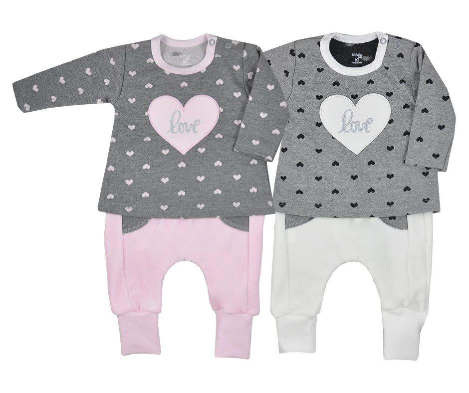 Dojčenské dievčenské tepláčky a mikinka Koala Jessica sivo-béžová