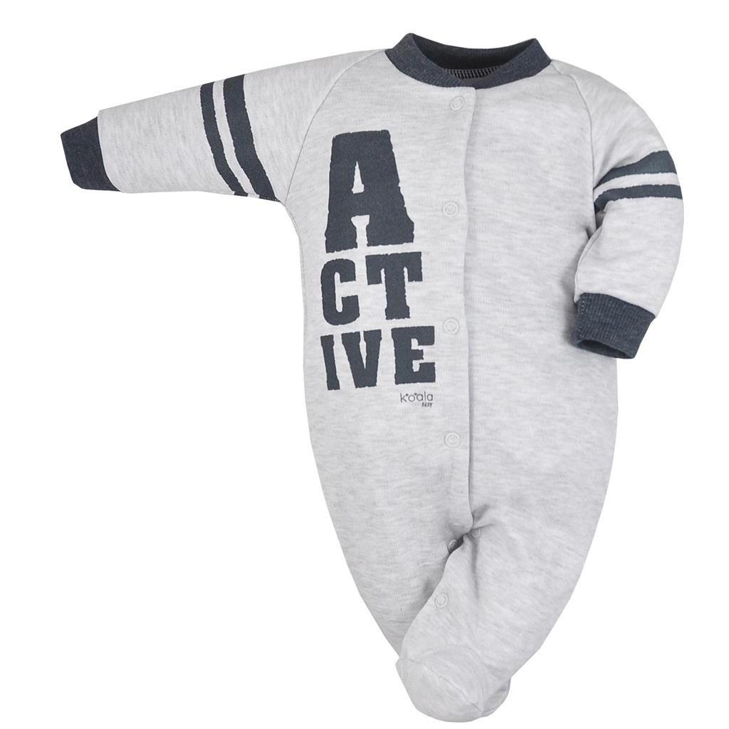 Dojčenský overal Koala Active svetlo sivý