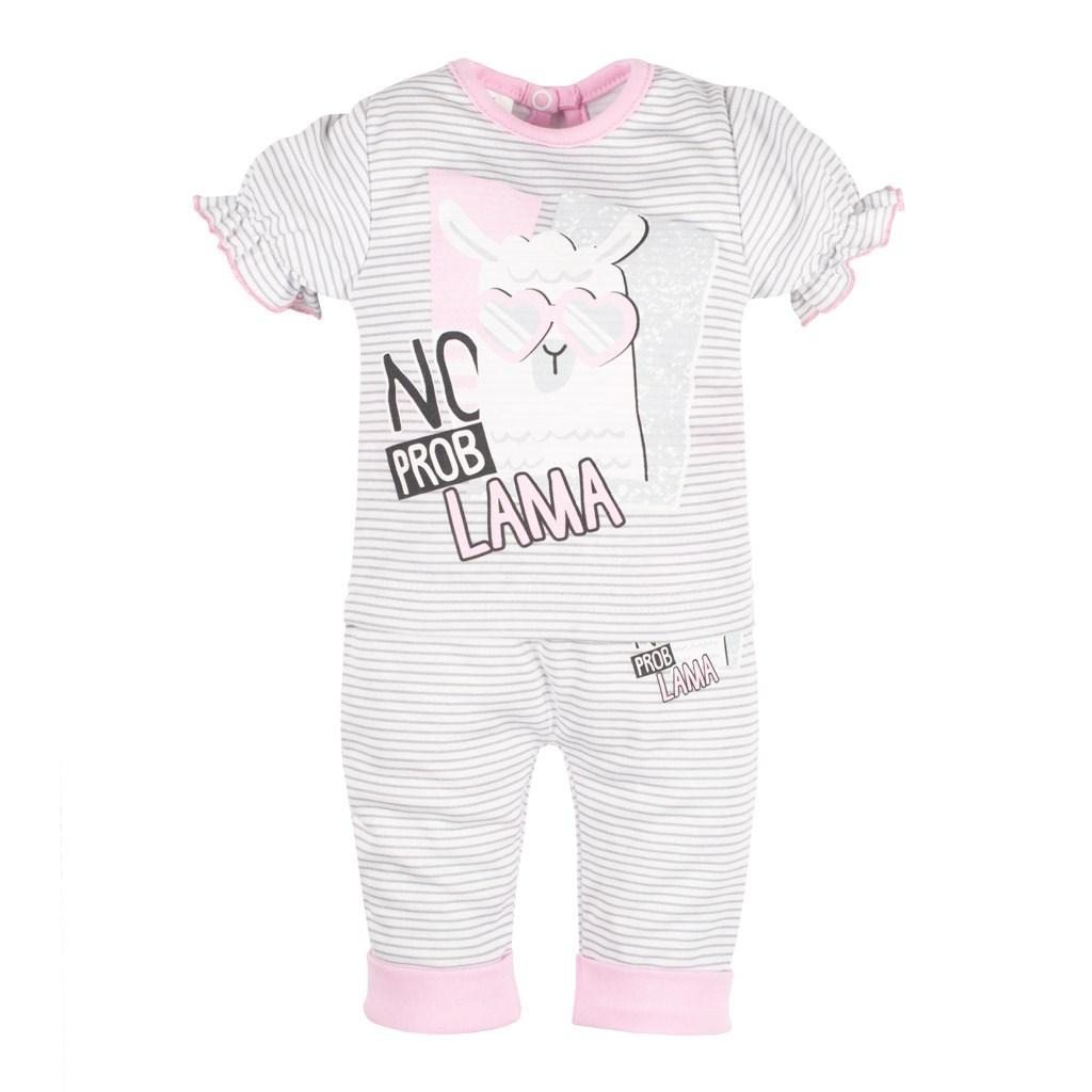 Dojčenské tričko s krátkym rukávom a tepláčky New Baby Lama