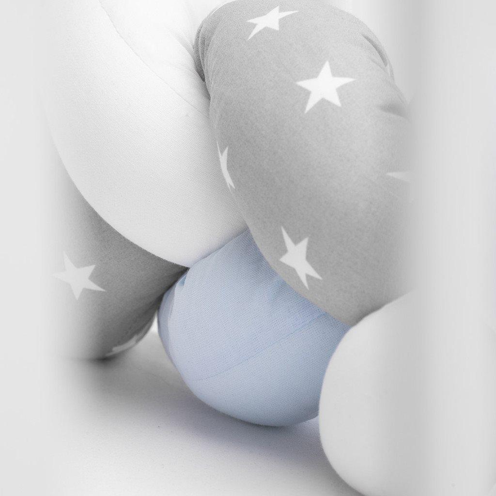 Mantinel do postieľky vrkoč Sensillo modrý hviezdičky