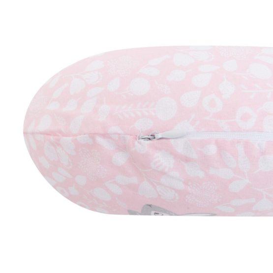 Univerzálny dojčiaci vankúš v tvare C New Baby Králičky rúžový