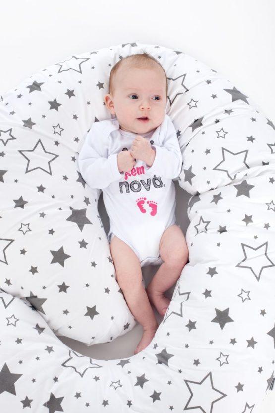Univerzálny dojčiaci vankúš v tvare C New Baby Králičky mátový