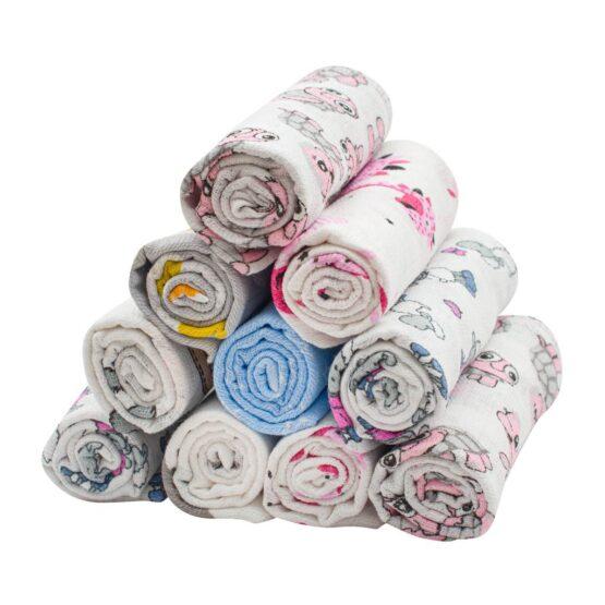 Bavlnená plienka s potlačou – 10 ks