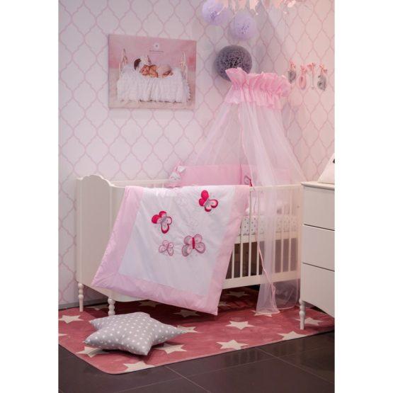 2-dielne posteľné obliečky Belisima Motýlik 90/120 ružové