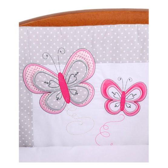 3-dielne posteľné obliečky Belisima Motýlik 100/135 šedé