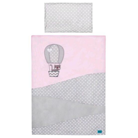 3-dielne posteľné obliečky Belisima Balón 100×135 ružové