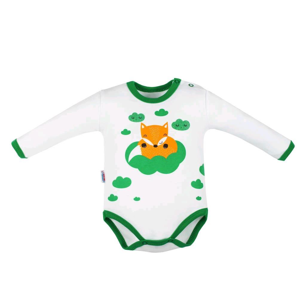 Dojčenské body s dlhým rukávom New Baby Líška zelená