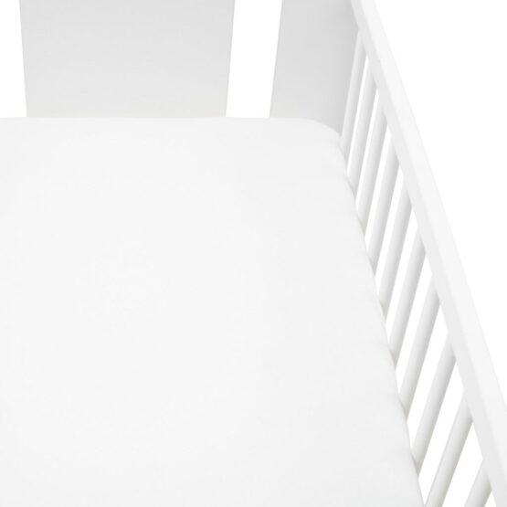 Jersey prestieradlo do postieľky New Baby 120×60 biele