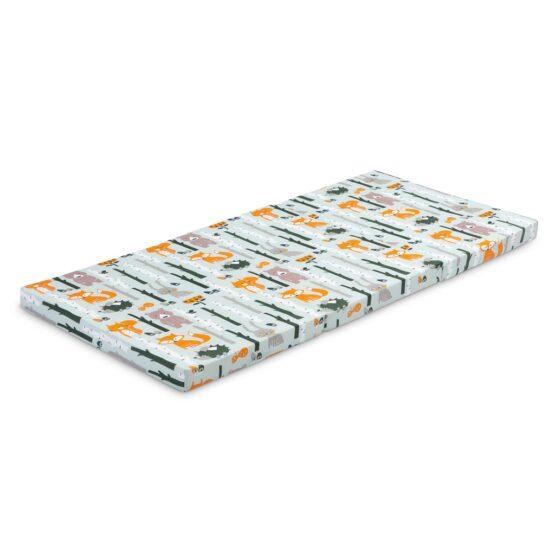 Skladacia matrac do postieľky Sensillo Líška a zajačik 120×60 cm